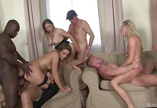 Undress MILFs in one of the craziest group fuck they ever had