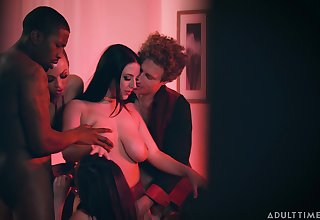 Really wild orgy with cock hungry nympho Abigail Mac fucking mad for orgasm